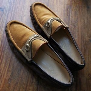 Gucci Shoes - Gucci Vintage woman 3 tone suede loafers 40